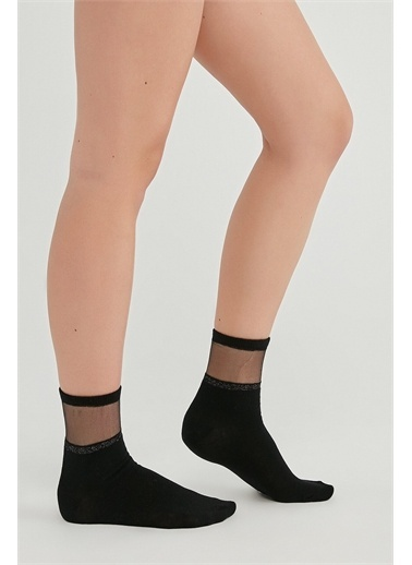Penti Penti PHYVXQH321IY Seffaf Shıny Soket Çorap Siyah